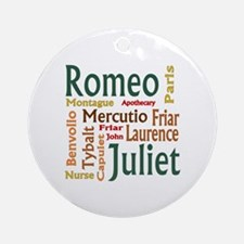 Romeo & Juliet Characters Ornament (Round)