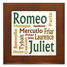 Romeo & Juliet Characters Framed Tile
