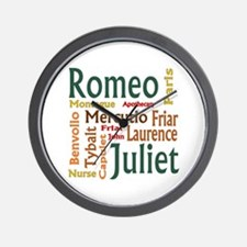 Romeo & Juliet Characters Wall Clock