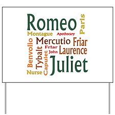 Romeo & Juliet Characters Yard Sign