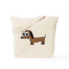 Cute Dachshund Cartoon Tote Bag