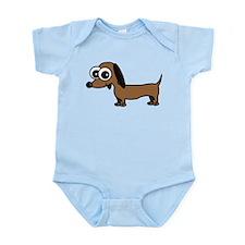 Cute Dachshund Cartoon Infant Bodysuit