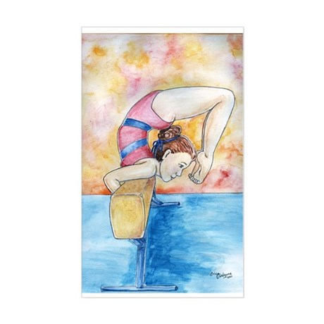 gymnastic champion Sticker