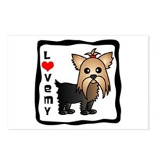 Love My Yorkshire Terrier Postcards (Package of 8)