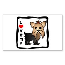 Love My Yorkshire Terrier Decal