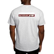 """""""Bad Attitude"""" Ash Grey T-Shirt"""