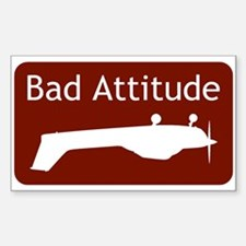 """Bad Attitude"" Rectangle Decal"