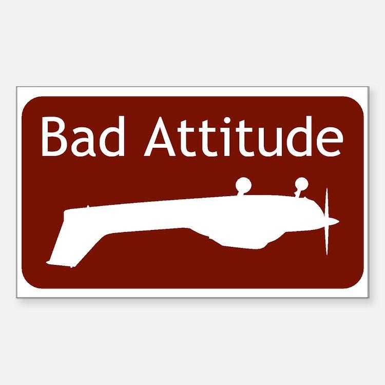 """Bad Attitude"" Rectangle Decal"