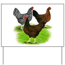 Dark Brown Egg Hens Yard Sign
