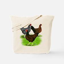 Dark Brown Egg Hens Tote Bag