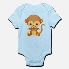 Cute Kawaii Cheeky monkey Infant Bodysuit