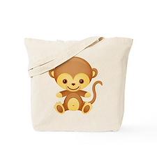 Cute Kawaii Cheeky monkey Tote Bag