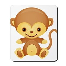 Cute Kawaii Cheeky monkey Mousepad