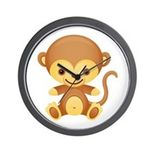 Cute Kawaii Cheeky monkey Wall Clock