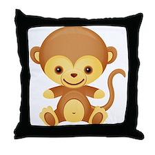 Cute Kawaii Cheeky monkey Throw Pillow