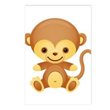 Cute Kawaii Cheeky monkey Postcards (Package of 8)