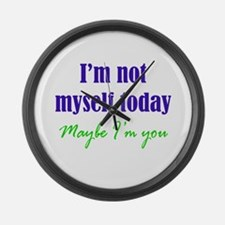 Not Myself Today Large Wall Clock