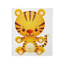 Cute Kawaii Tiger Throw Blanket