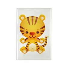 Cute Kawaii Tiger Rectangle Magnet