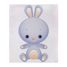 Cute kawaii Rabbit Throw Blanket