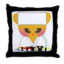 """Sushi Chef"" Throw Pillow"