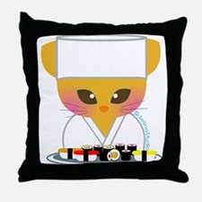 """Sushi Chef"" Throw Pillow"