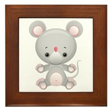 Cute Kawaii Mouse rat Framed Tile