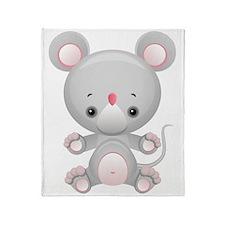 Cute Kawaii Mouse rat Throw Blanket
