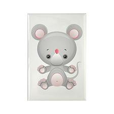 Cute Kawaii Mouse rat Rectangle Magnet