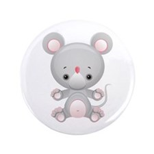 """Cute Kawaii Mouse rat 3.5"""" Button (100 pack)"""