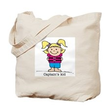 Captain's Kid Girl 1 Tote Bag