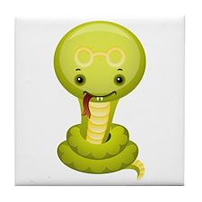Cute kawaii cartoon snake Tile Coaster