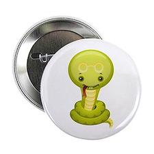 "Cute kawaii cartoon snake 2.25"" Button"