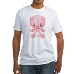 Cute Kawaii Pink pig Fitted T-Shirt