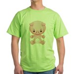 Cute Kawaii Pink pig Green T-Shirt