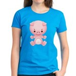 Cute Kawaii Pink pig Women's Dark T-Shirt