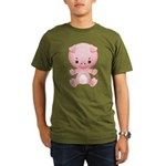 Cute Kawaii Pink pig Organic Men's T-Shirt (dark)