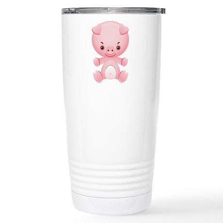 Cute Kawaii Pink pig Stainless Steel Travel Mug
