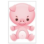Cute Kawaii Pink pig Large Poster