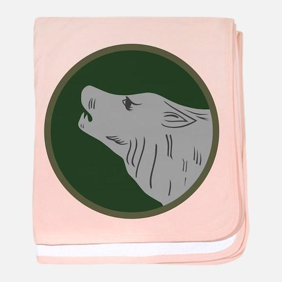 Timberwolf baby blanket