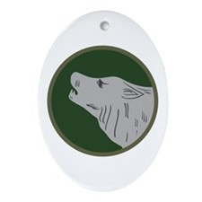 Timberwolf Ornament (Oval)