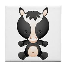 Cute kawaii cartoon horse Tile Coaster