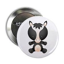 "Cute kawaii cartoon horse 2.25"" Button"