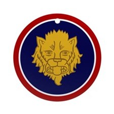 Golden Lion Ornament (Round)