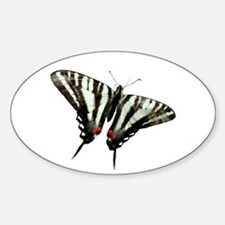 Zebra Swallowtail butterfly Oval Decal