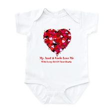Aunt & Uncle Love Me Valentine Infant Bodysuit