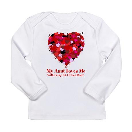 Aunt Loves Me Valentine Long Sleeve Infant T-Shirt
