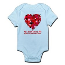Aunt Loves Me Valentine Infant Bodysuit