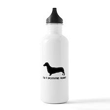 I'm a dachshund mommy Water Bottle