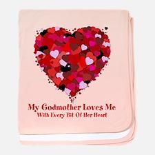 Godmother Loves Me Valentine baby blanket